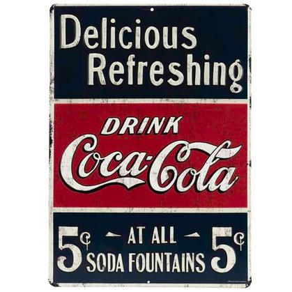 COCA-COLA EMBOSSED TIN SIGN 10