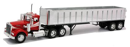 Kenworth W900 with Frameless Dump Trailer