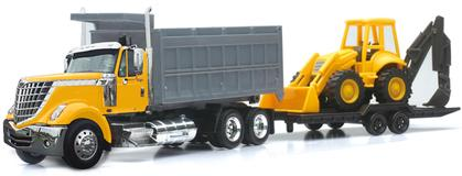 International Lonestar Dump Truck with Wheel Loader