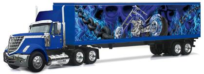 International Lonestar and Trailer with Chopper Graphics