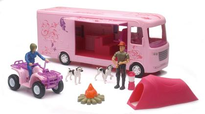 RV Camping Adventure Set in Pink