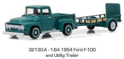 1954 Ford F-100 with Utility Trailer