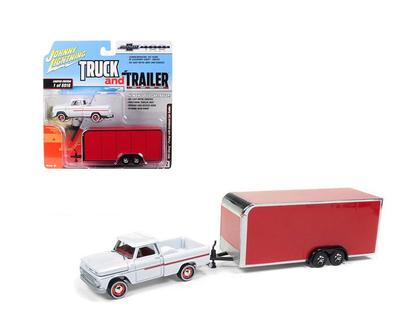 Johnny Lightning Truck & Trailer - Chevrolet 1965 & Trailer