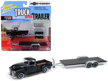 Johnny Lightning Truck & Trailer - 1950 Chevrolet Pickup & Trailer