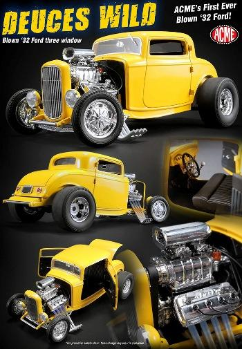 1932 Ford Hot Rod 3 windows