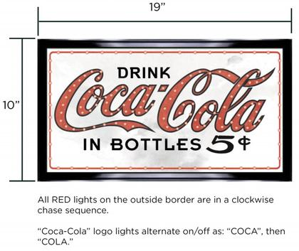 Coca-Cola 19x10 LED Sign