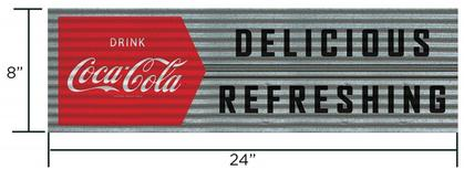Coca-Cola 8x24 Corrugared Tin