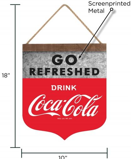 Coca-Cola Go Refreshed 18x10 sign