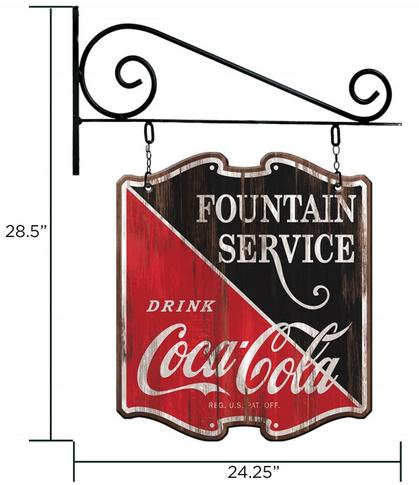 Double Sided Coca-Cola Sign 28.5x24.5