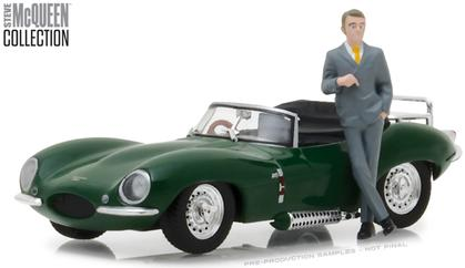 Jaguar XKSS 1956 with Steve McQueen Figure