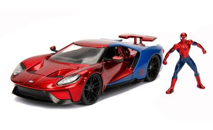 2017 Ford GT with Spider-Man Figure