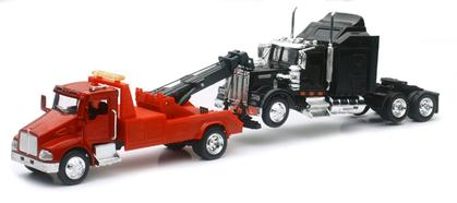 Kenworth T300 Tow Truck with Kenworth W900 Cab