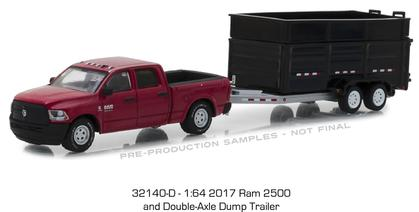 2017 Ram 2500 and Double-Axle Dump Trailer Hitch and Tow Series 14