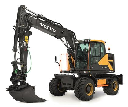 Volvo EWR150E Excavator with Steelwrist Tiltrotator and Nokian Tires