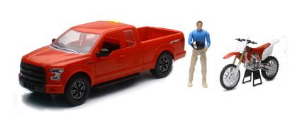 Ford F-150 & Honda Dirt Bike 1:14 (Plastic)