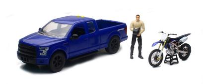 Ford F-150 & Yamaha Dirt Bike 1:14 (Plastic)