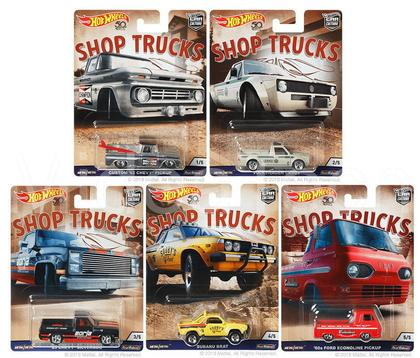 Car Culture D shop Truck Hot Wheels 50th Anniversary 1/64 Set