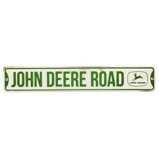Embossed John Deere Street Sign