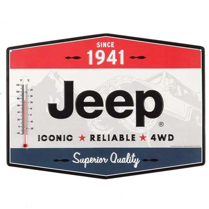 JEEP TIN THERMOMETER 14