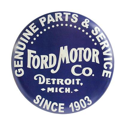 FORD VINTAGE LOGO BUTTON SIGN 12
