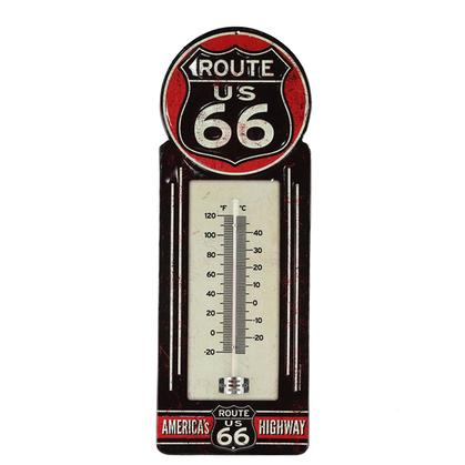 ROUTE 66 METAL THERMOMETER 5