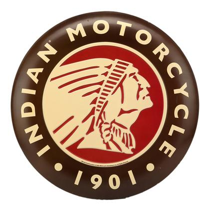 INDIAN MOTORCYCLE TIN BUTTON SIGN 14