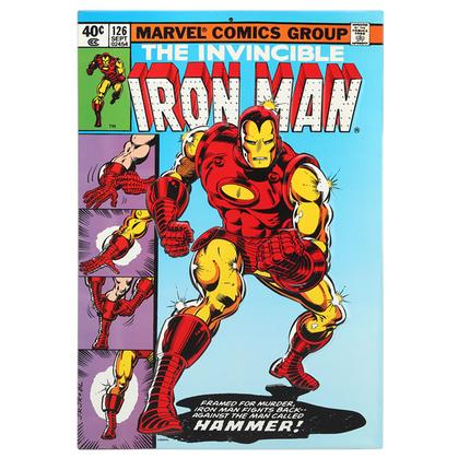 IRON MAN #126 COVER EMBOSSED TIN SIGN 10