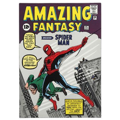 AMAZING FANTASY SPIDER-MAN DEBUT EMBOSSED TIN SIGN 10