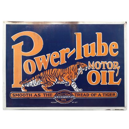 POWER-LUBE DOMED TIN SIGN 26