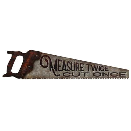 HAND SAW TIN SIGN W/ATTACHMENTS 27