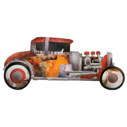 SCRAP TIN HOT ROD RUSTIC EMBOSSED TIN SIGN 30