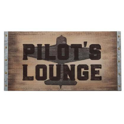 PILOT'S LOUNGE WOOD WALL ART 28