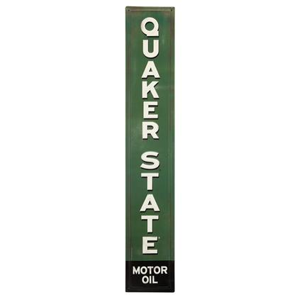 QUAKER STATE EMBOSSED TIN SIGN 5.5
