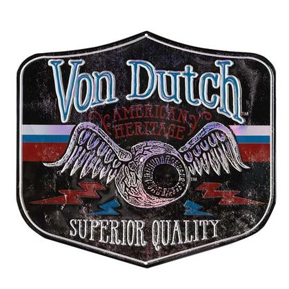 VON DUTCH PATCH EMBOSSED TIN SIGN 14