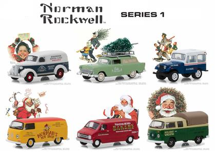 Norman Rockwell Delivery Vehicles Series 1 Set
