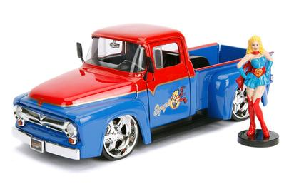Ford F-100 Pickup 1956 with Supergirl Figure DC Comics Bombshells