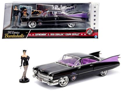 Cadillac 1959 With Catwoman Figure DC Comics Bombshells