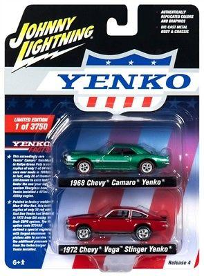 2 pack Johnny Lightning Chevrolet Camaro & Vega Yenko