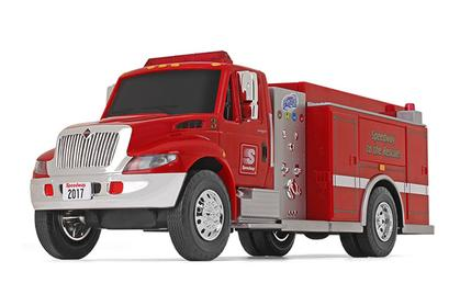 International DuraStar Fire Truck with Lights and Sounds