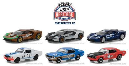Set 1:64 Ford Racing Heritage Series 2