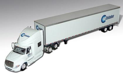 International PROSTAR With Dry Van Trailer Celadon