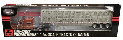 Peterbilt 379 70 Sleeper Truck with Wilson Tri-Axle Livestock Trailer