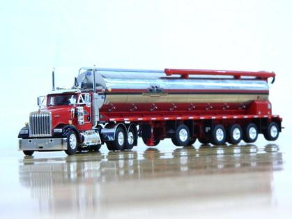 Kenworth W900 Day Cab with 5 Axle Bulk Feed Trailer