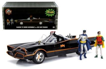 Batmobile Classic TV Series 1966 with Lights & Batman and Robin Figure