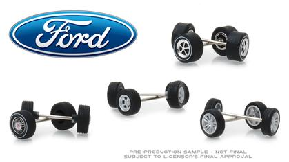 Ford Wheel & Tire Pack - 16 Wheels, 16 Tires, and 8 Axles