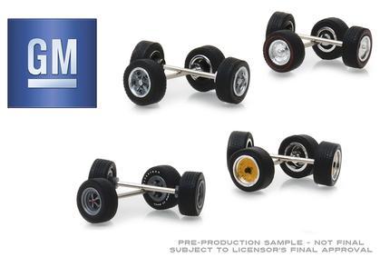 General Motors Wheel & Tire Pack - 16 Wheels, 16 Tires, and 8 Axles