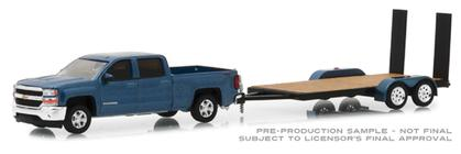 Chevrolet Silverado 1500 2018 with Flatbed Trailer