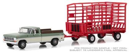 Ford F-100 1969 Farm & Ranch Special (Long Bed) with Bale Throw Wagon