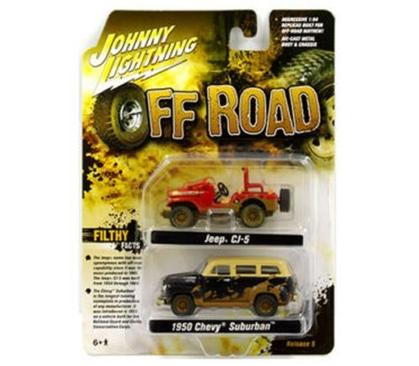 Off Road Jeep CJ-5 & 1950 Chevrolet Suburban set