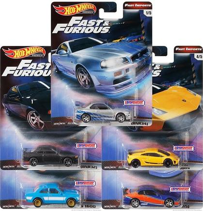 Hot Wheels 1:64 Fast and Furious Set